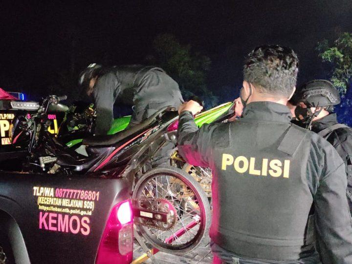 Kucing-kucingan Balap Liar di Lombok Barat, Polisi Angkut Lima Unit Sepeda Motor Tanpa Dokumen dan Kelengkapan.