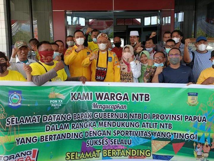 Kehadiran Gubernur NTB& Danrem 162/WB Menambah Semangat Para Atlete Serta Kontingen Prov NTB Pada PON XX di Papua.