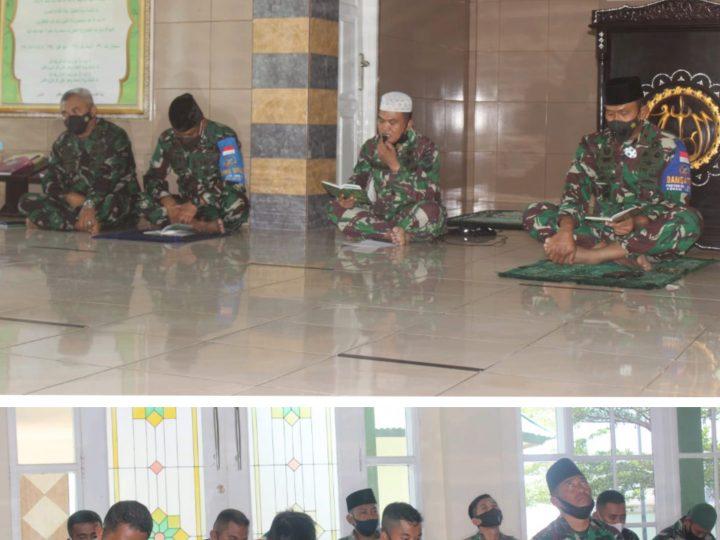 Danrem 162/WB Gelar Doa Bersama & Yasinan Untuk Atlet Tinju NTB Mencapai Keberhasilan di Final PON XX Papua.