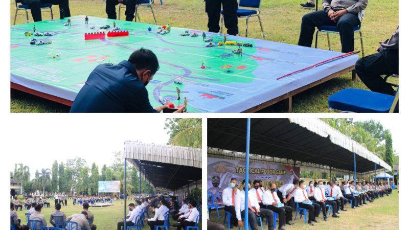 Kesiapan pengamanan Gelaran Internasional World SuperBike (WSBK) championship, jajaran Polres Lombok Barat melakukan Latihan Tactical Floor Game (TFG).